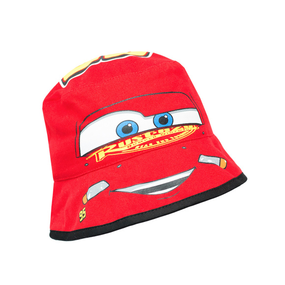 NWT Disney Cars Lightning McQueen Red Bucket Hat a6a75c8c723